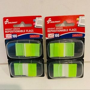 2 SKILCRAFT Self Stick Flags Repositionable 100/PK